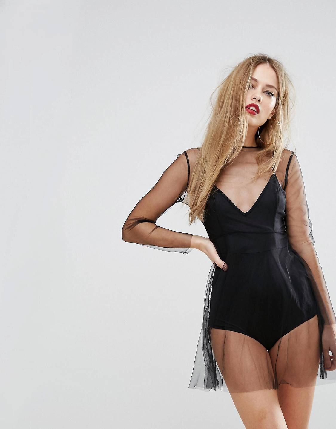 Mesh Skater Dress -