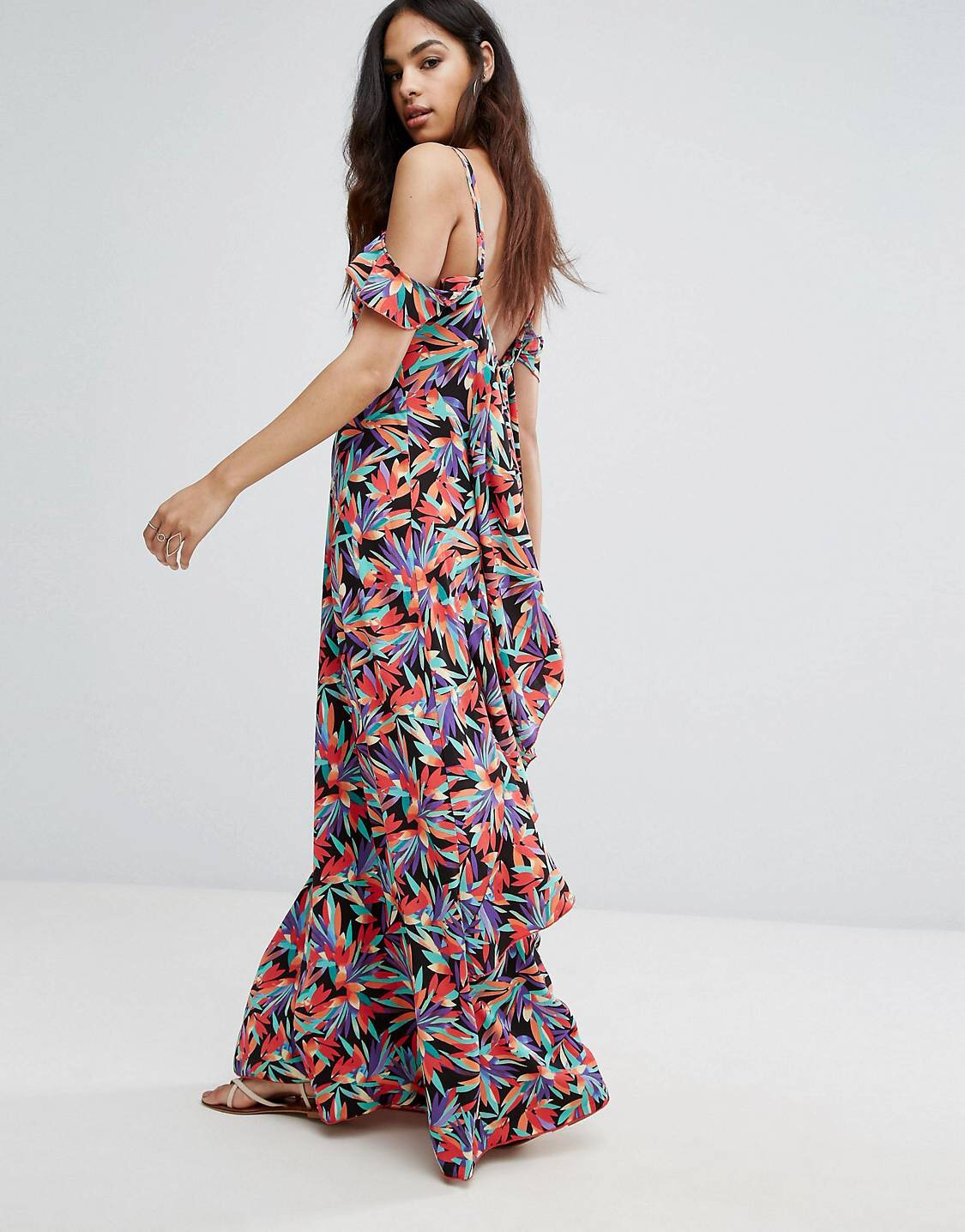 £12.50 boohoo tropical maxi dress. - One of them ones where you gotta buy two. One for you and them.