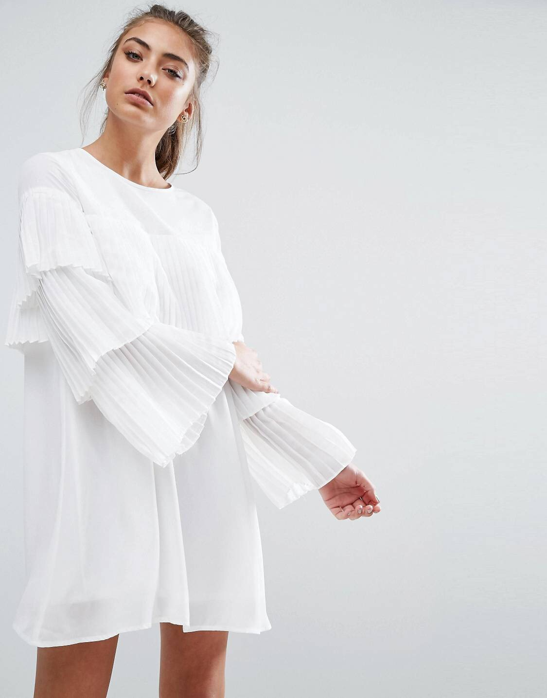 £14 Boohoo Pleated Dress - It says dress, but what they really mean is modest top.
