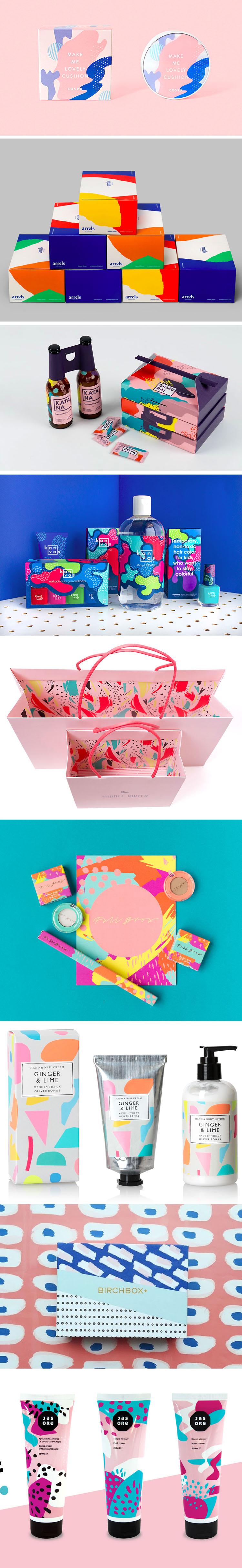 Splash of colors packaging
