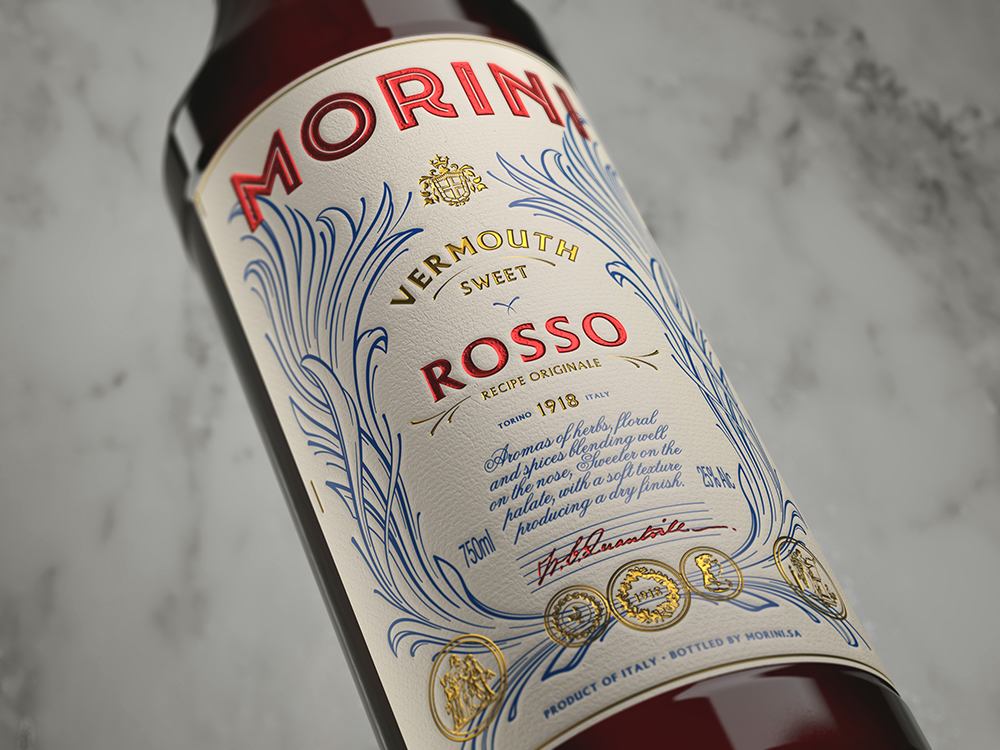 Packaging design Morini Vermouth by Pep Bernat Vizcaya at FÖRPACKAD
