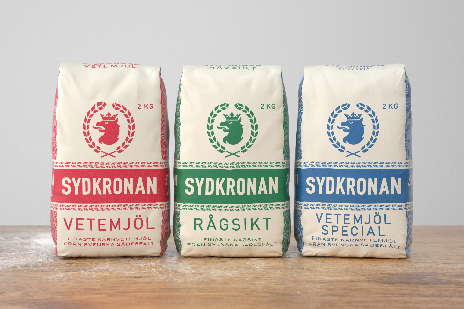 Packaging design for Sydkronan by Amore, at FÖRPACKAD
