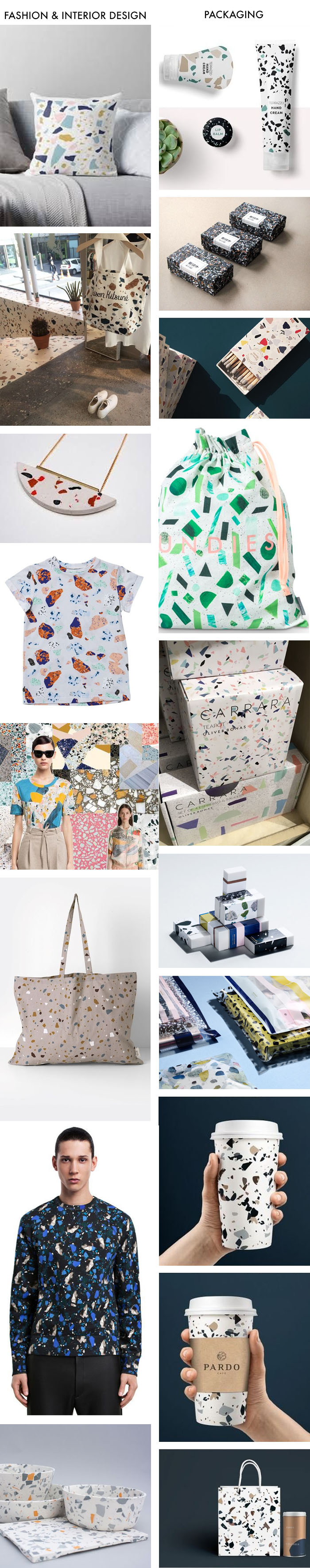Terrazzo: Fashion & Interior vs. Packaging