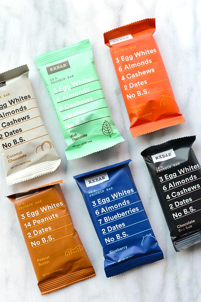 Redovisande förpackningar för RXBAR. Läs mer  här