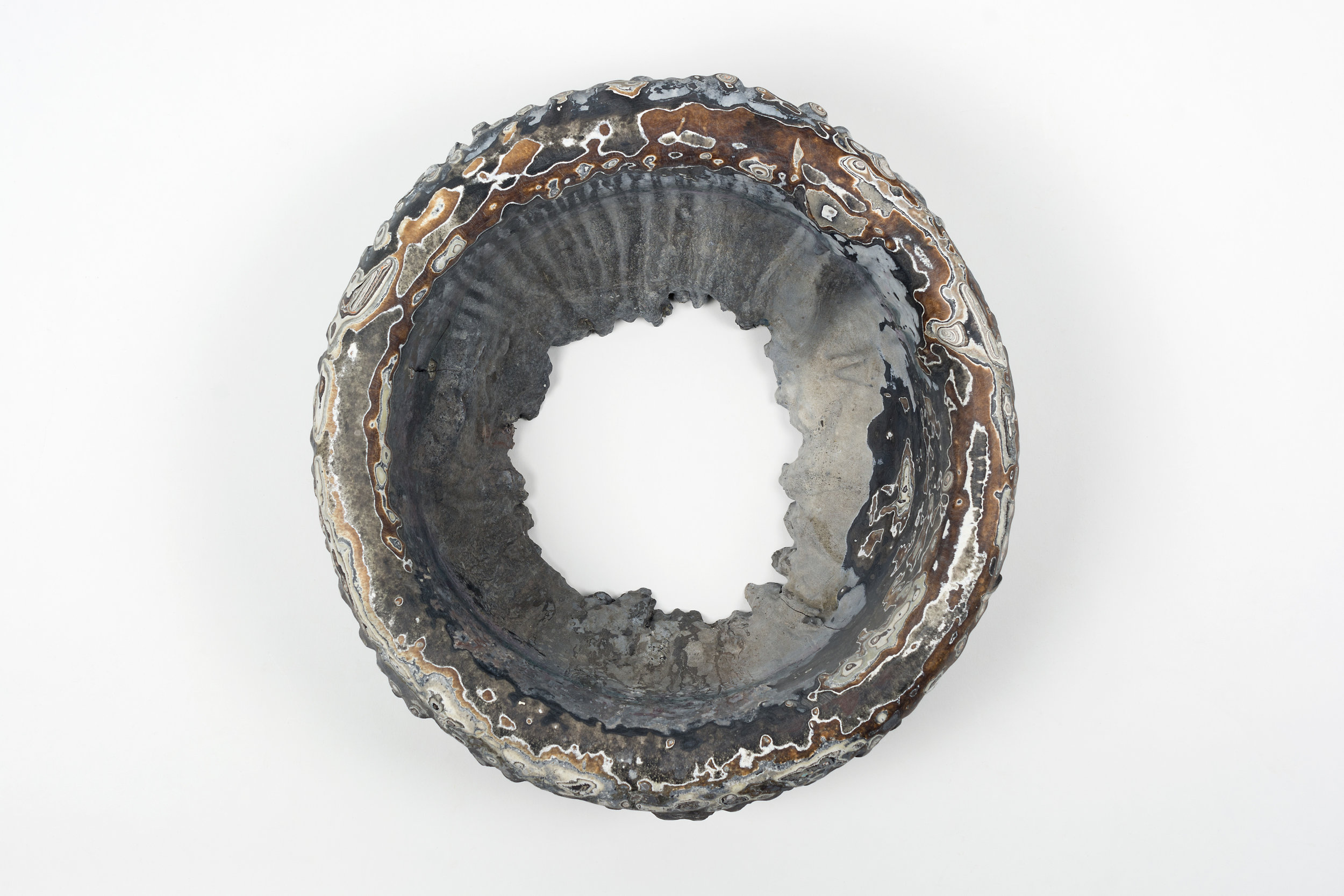 Nick DePirro,  Chapeau, 2015, motor agate, 13 x 13 x 8 inches.