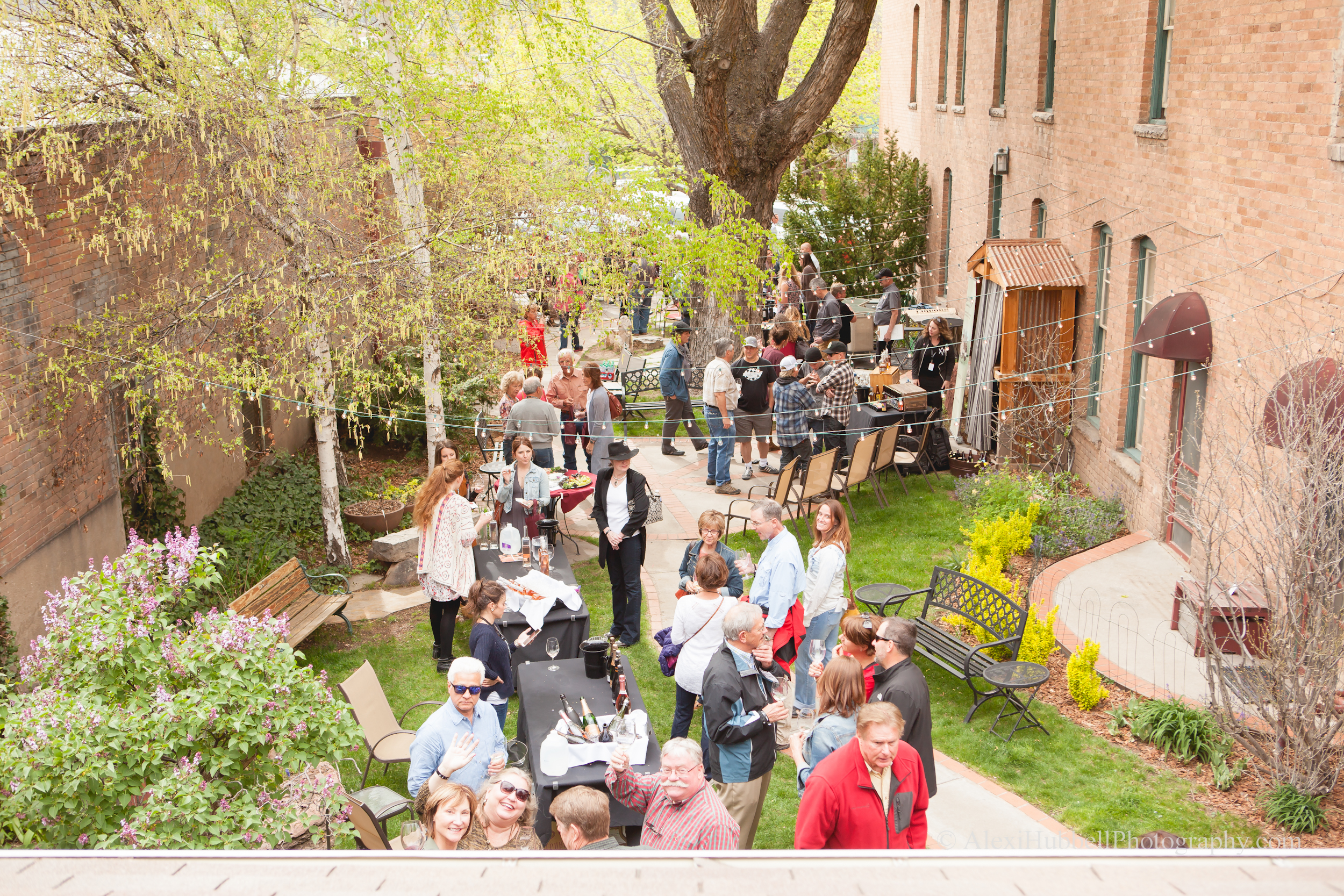 The Durango Wine Experience crowd at  The Rochester Hotel