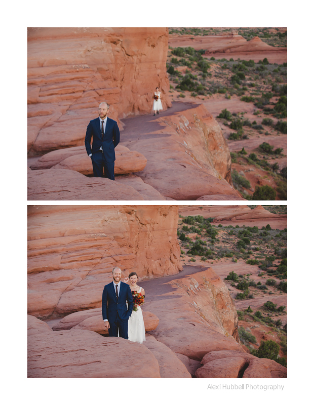 moab elopement 1st look
