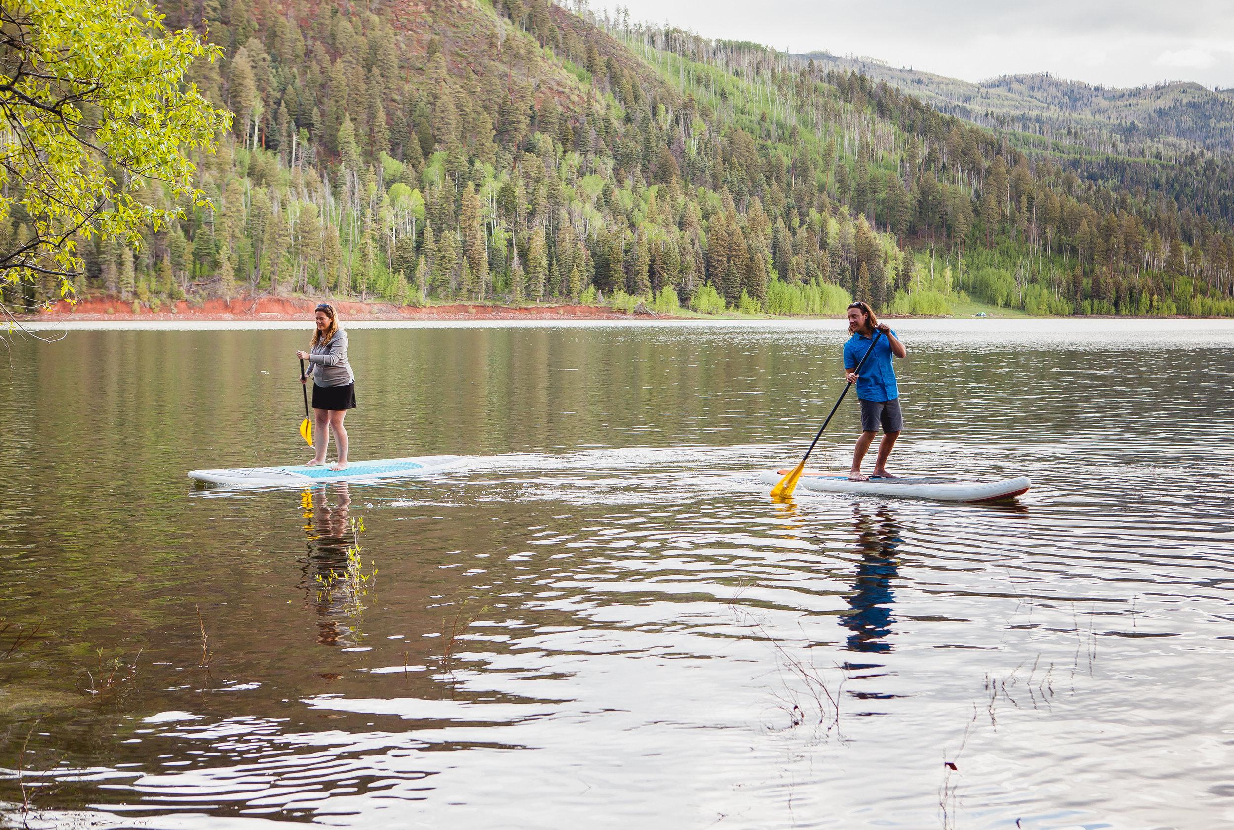 Durango Colorado Wedding Photographers, Engagement photos by Alexi Hubbell Photography, Paddle Boarding Engagement photos
