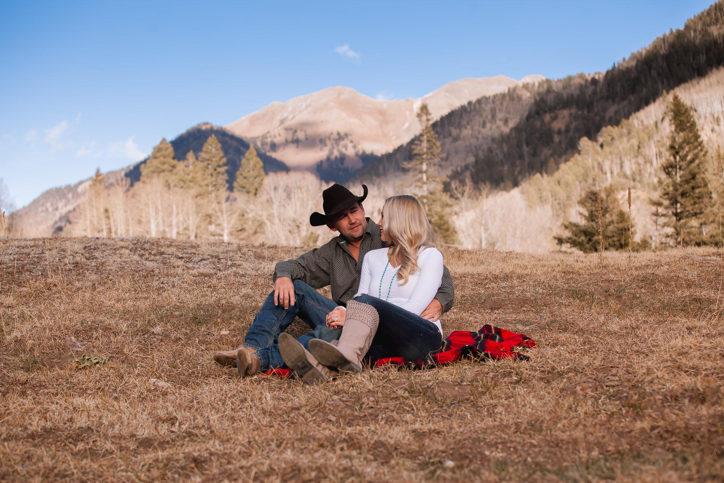 Durango Colorado Rustic Engagement Photos Winter by Alexi Hubbell Photographyg