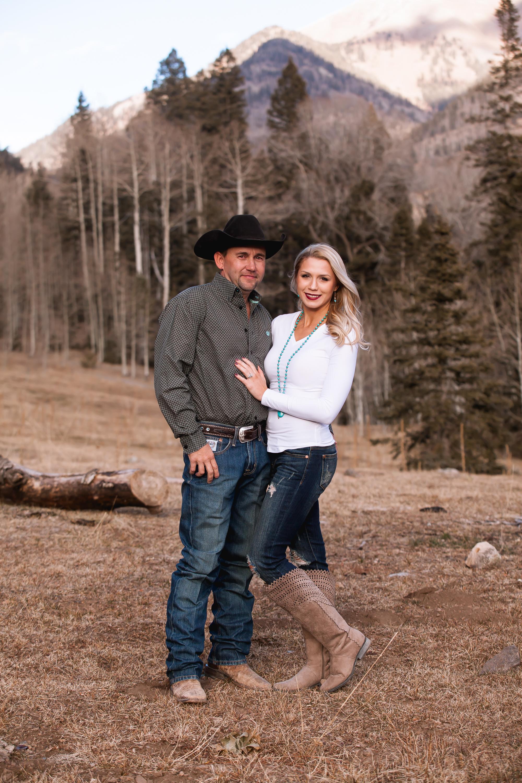 Durango Colorado Rustic Engagement Photos Winter by Alexi Hubbell Photography