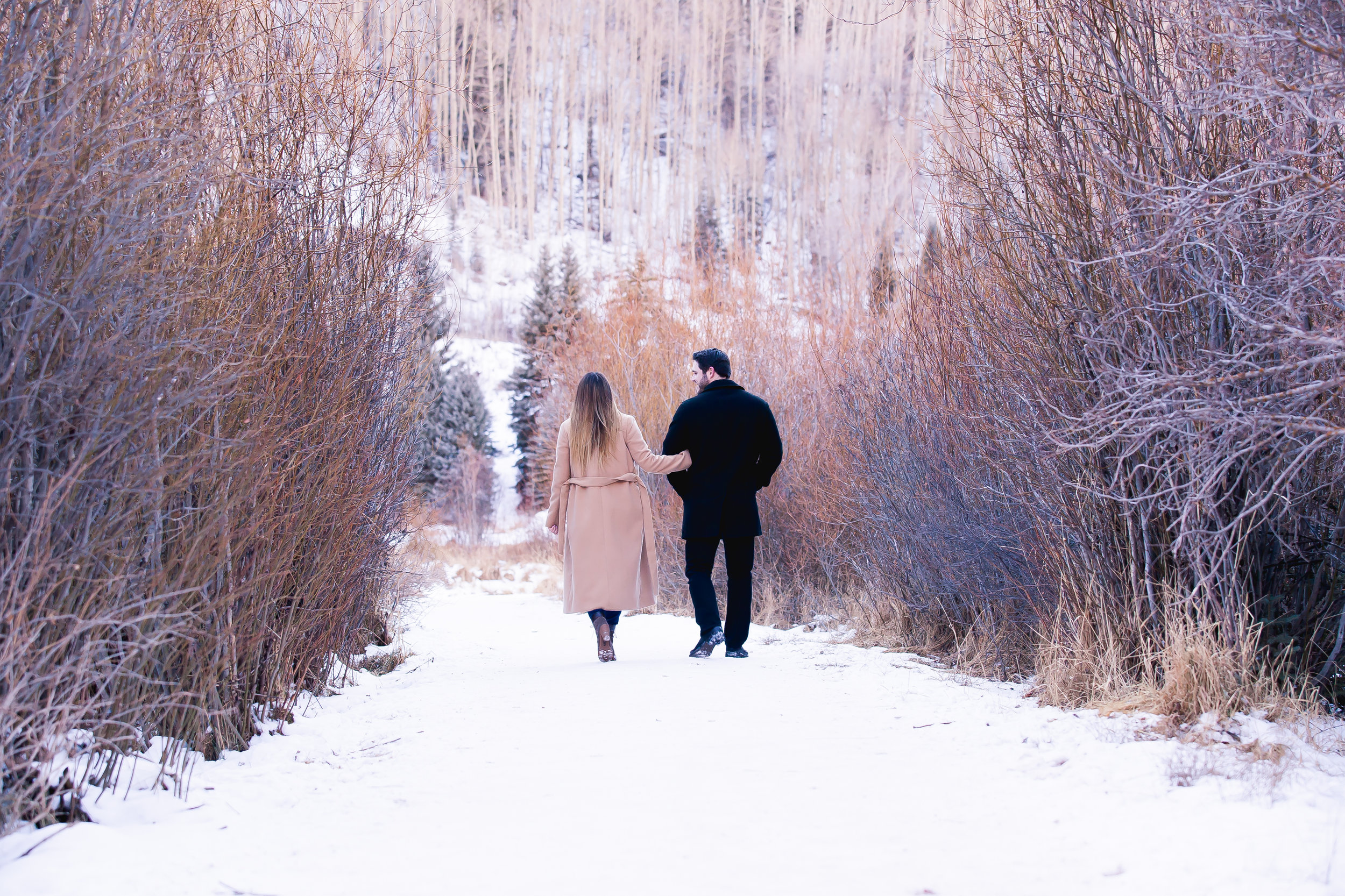 Winter Engagement Photos in Telluirde, Colorado by Alexi Hubbell Photography