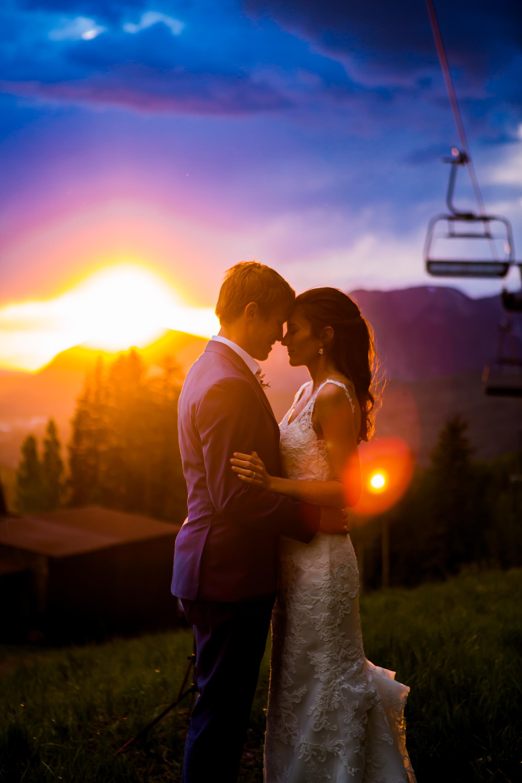 Telluride Wedding Sunset