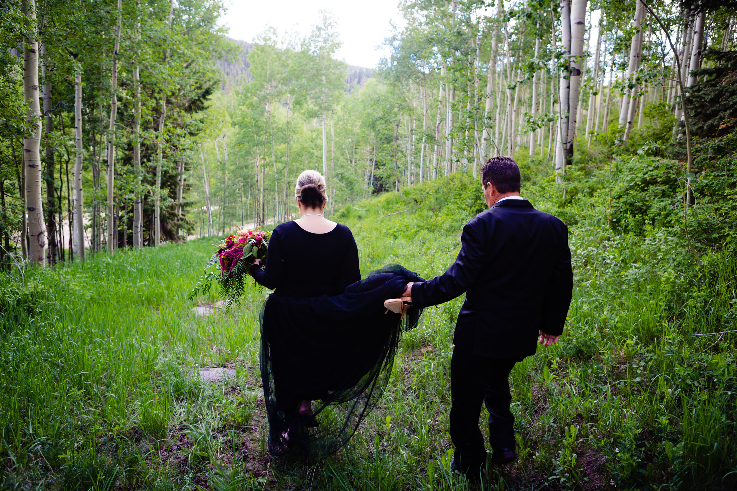 San Juan Forest Elopement Wedding  Aspen Trees  Alexi Hubbell Photography 2019  Purgatory Ski Resort Summer