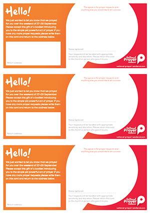 Download follow up cards that can be used to hand out with other literature  Three on an A4 sheet
