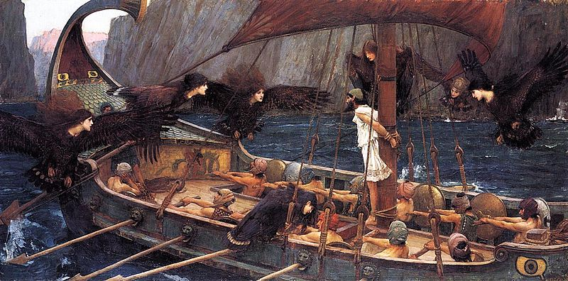 """Ulysses and the Sirens,"" by John William Waterhouse (1891)."