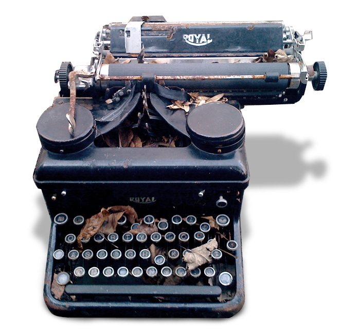 """Forgotten Typewriter"" by Pete Simon. Via  Flickr  and courtesy a  Creative Commons License ."