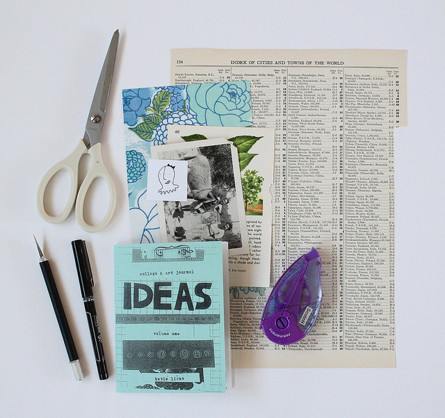 """""""collage and art journal ideas zine,"""" by Katie. Via  Flickr  and courtesy a  Creative Commons  license."""