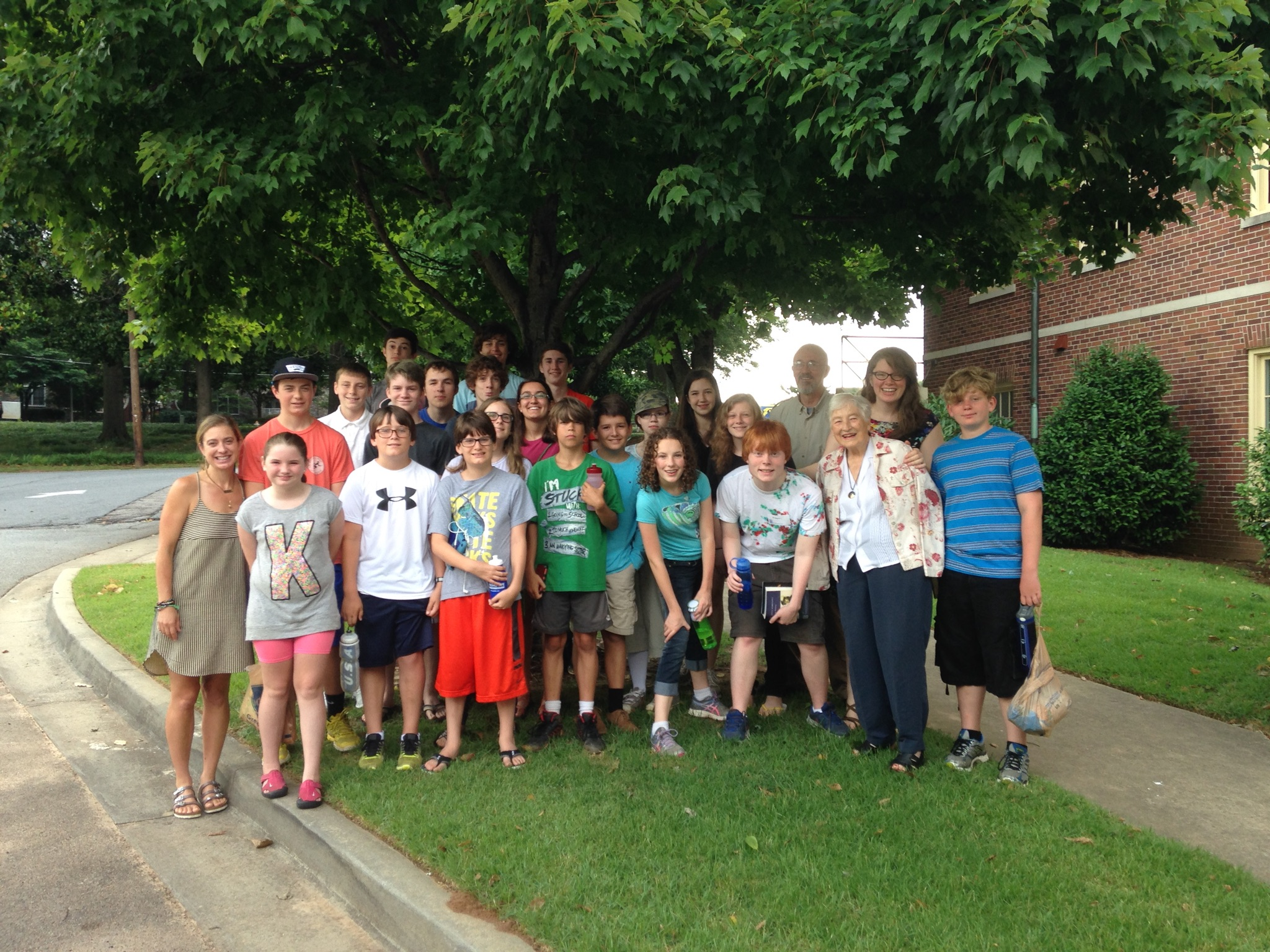 The FBCD Youth Group just before we left on our summer mission toAsheville, NC.