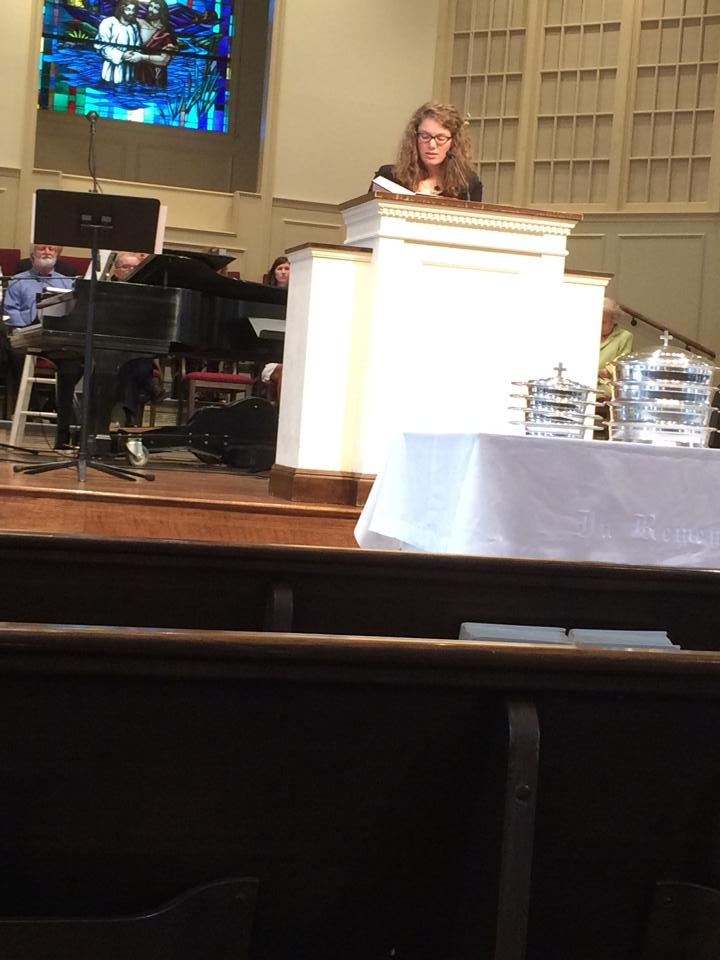 I was honored to read scripture before Aaron preached.