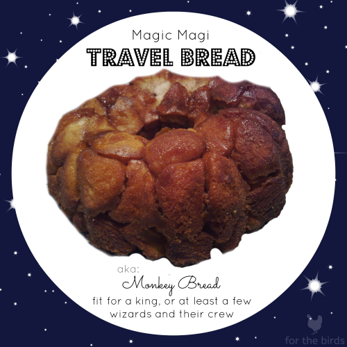 The start of a new Coyle-Carr tradition. | Original Monkey Bread Image By Andrew Currie from Toronto, Canada via Wikimedia Commons