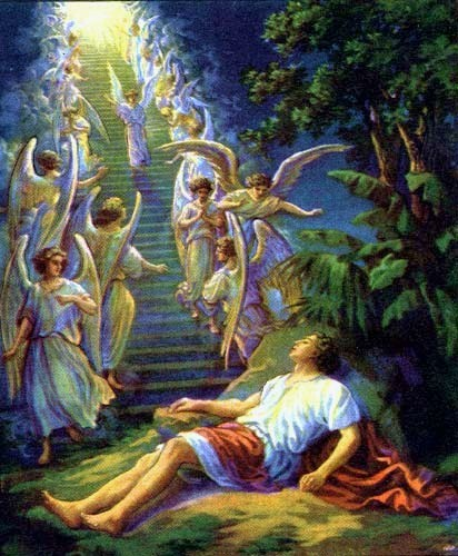 Or Jacob's stairway , it seems. (TELL me you've seen this illustration before.)