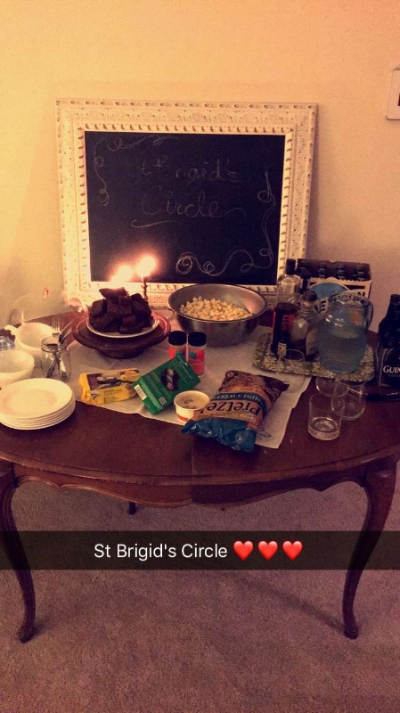 Amanda  was so sweet to snap a picture of our spread, which was simple but covered all the necessary bases--