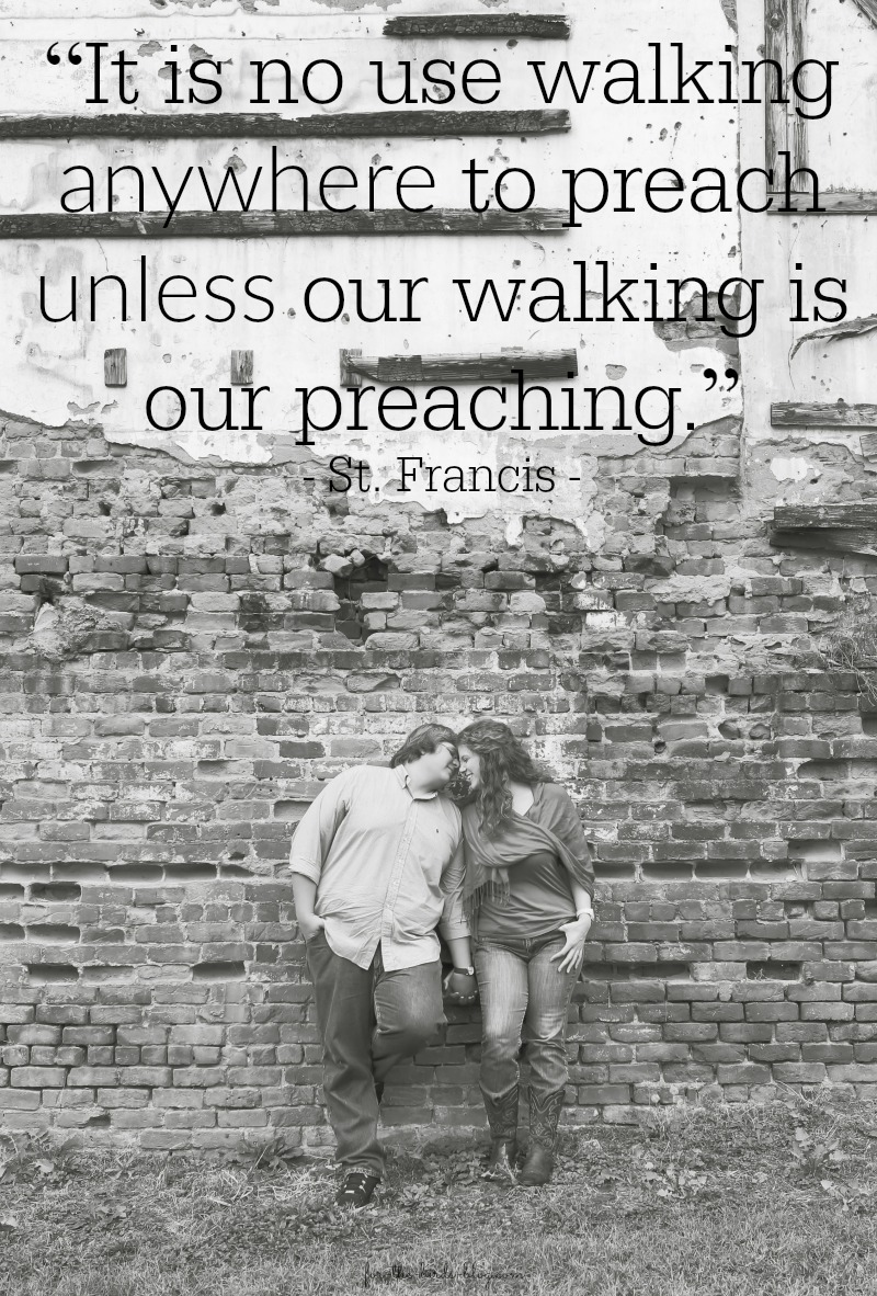 Aaron + Leanna, c. 2013 |  Quote from St. Francis
