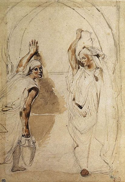 412px-Eugène_Delacroix_-_Two_Women_at_the_Well_-_WGA6235.jpg