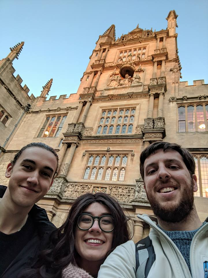 A terrible shot of Matt and I with past Oxford University intern, Oscar, who somehow looks flawless at a down angle. He gave us the full Oxford tour. We couldn't be more thankful!
