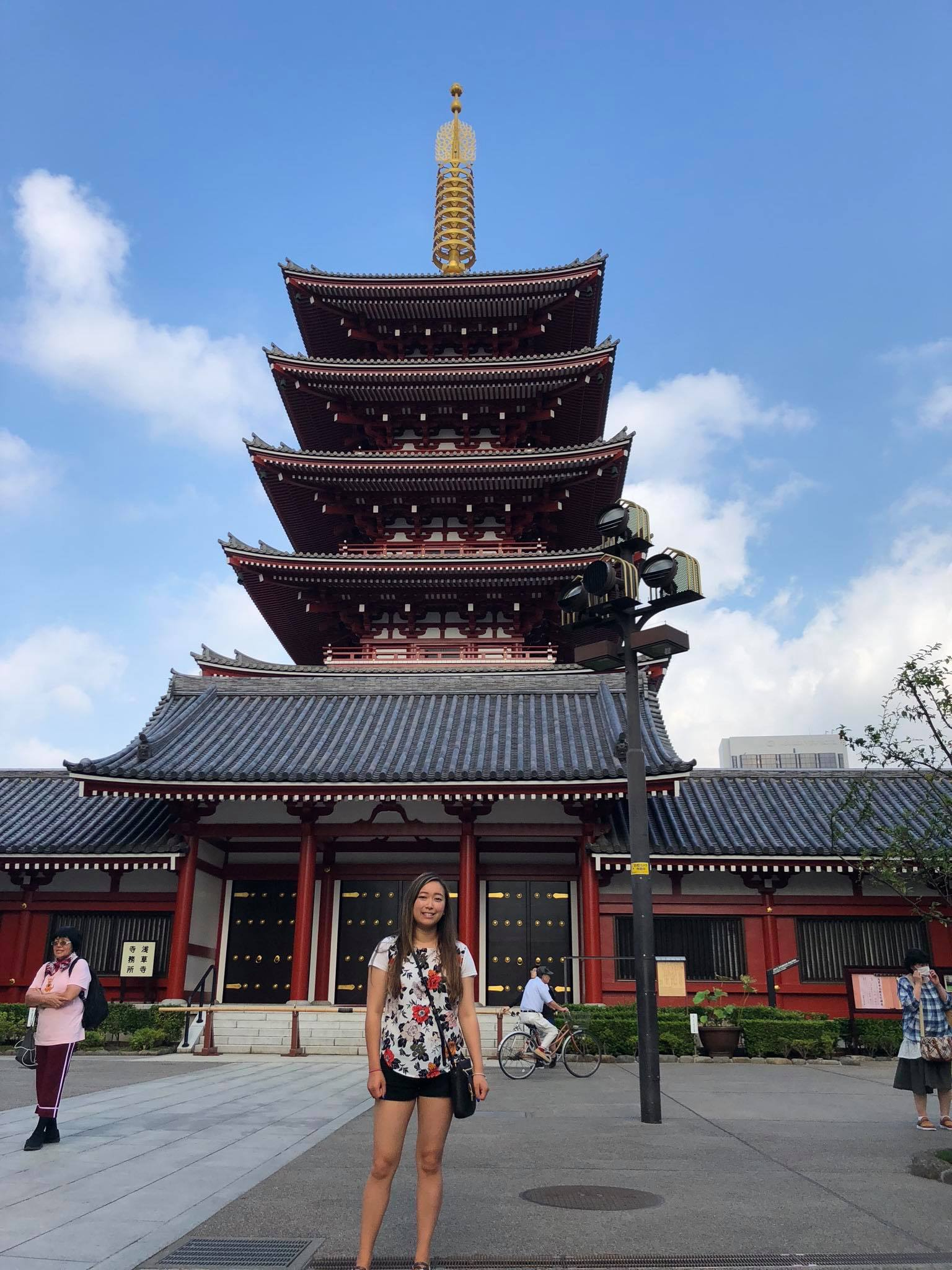 - Me standing out as a foreigner with my shorts in Tokyo.