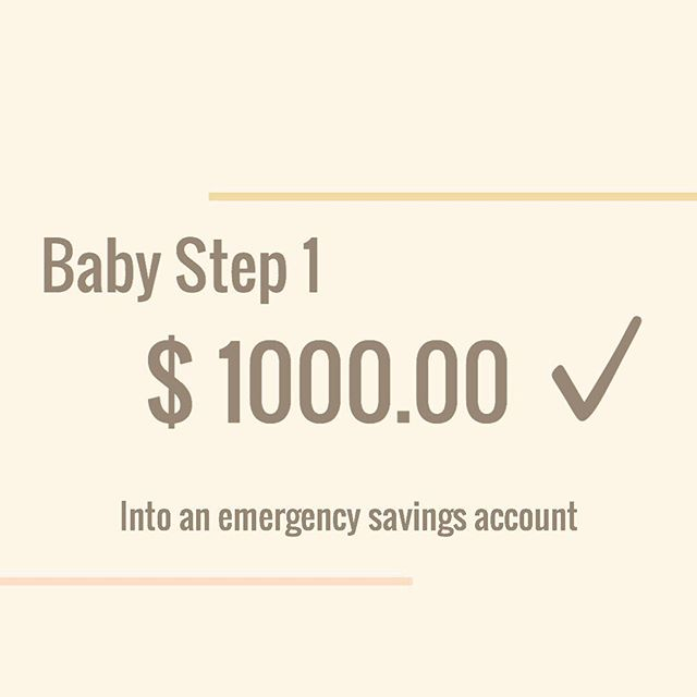 Well it's official I'm actually doing this. #babystep1 is having an emergency 🚨 fund of $1000. . Having an emergency fund is not something I'm new to...before I started working on my home I had over $10,000 saved up but alas, that went into my home a while back...it was also not used for an emergency 🙈 ugh. #debtfreecommunity #debtfreejourney now on to my #debtsnowball 💰✨👌🏼