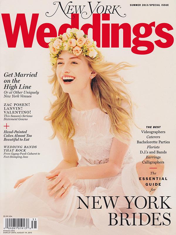 New York Weddings Magazine Summer 2013 Editorial List