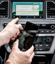 Android's auto system in use in a Hyundai Accent.