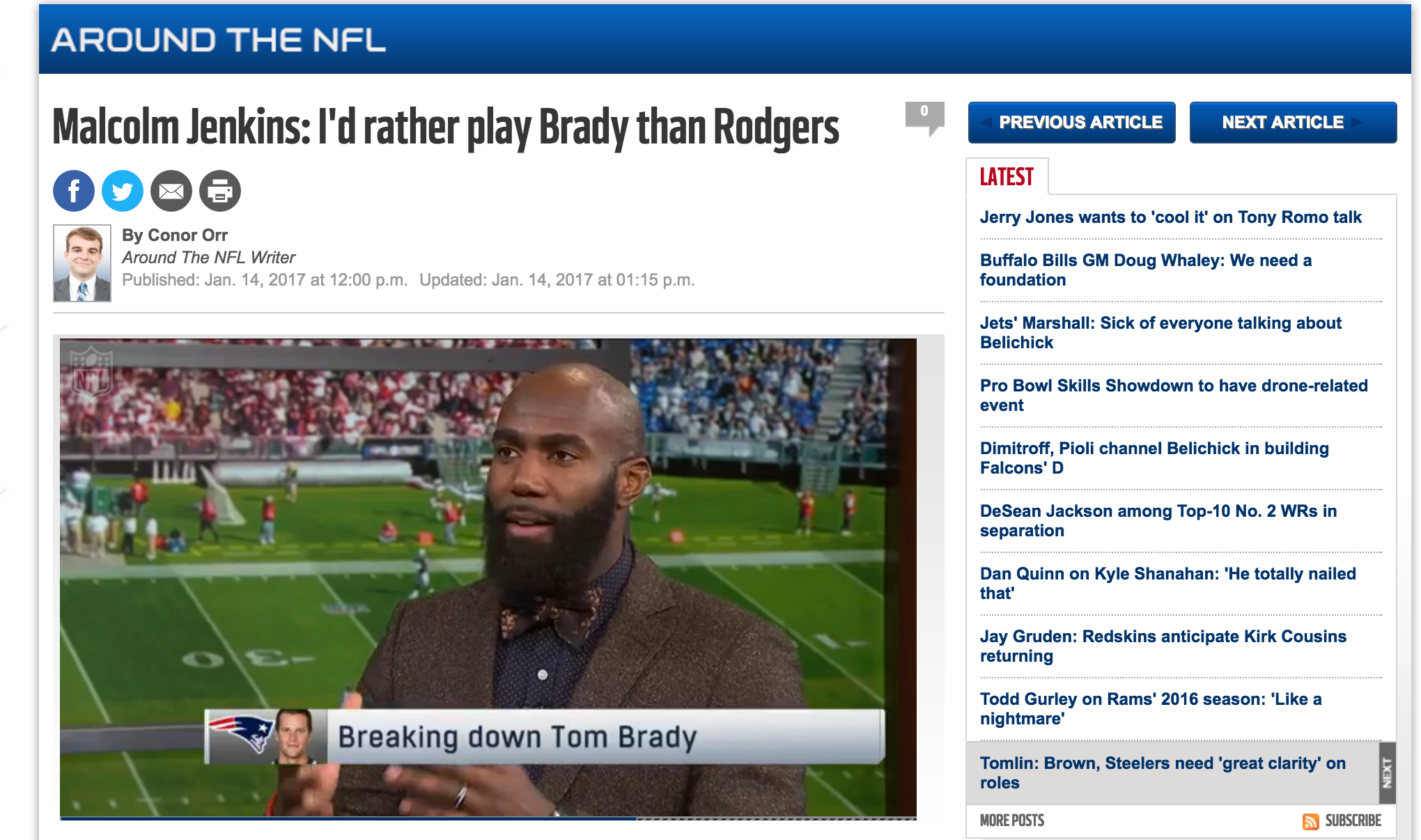 I'D RATHER PLAY BRADY THAN ROGERS - Tom Brady is arguably the greatest NFL quarterback of all time, and Aaron Rodgers is one of the all-time greats. But which player on his own presents the biggest matchup problem for a defensive player?