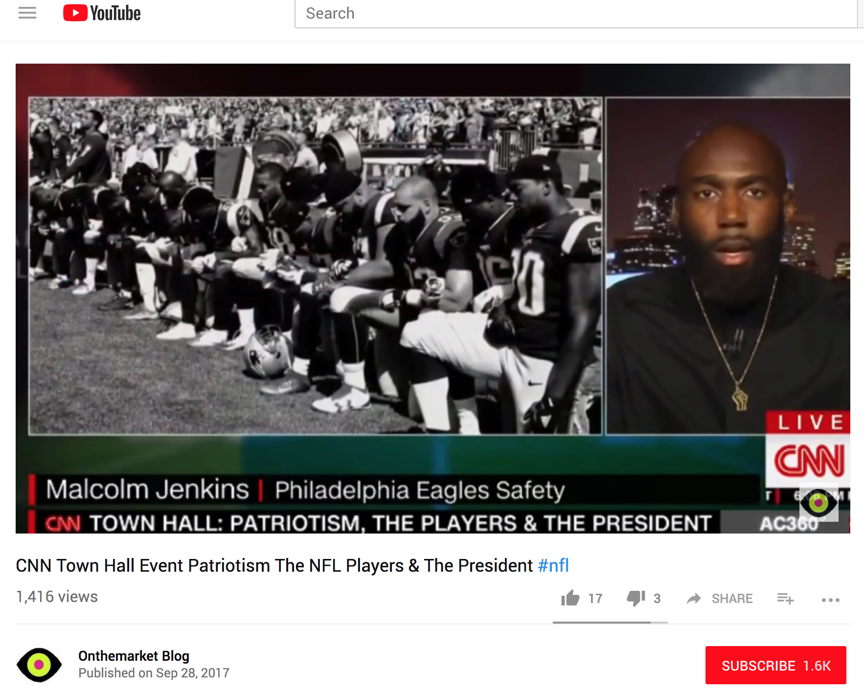 CNN Town Hall Event: Patriotism - CNN Town Hall Event Patriotism The NFL Players & The President Hosted by Anderson Cooper