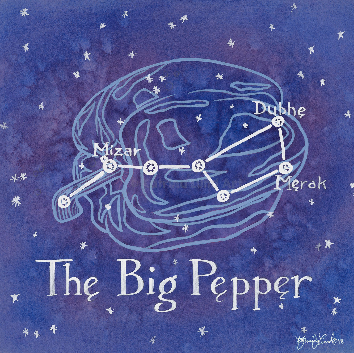 The Big Pepper by Night