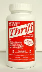 Thrift drain cleaner