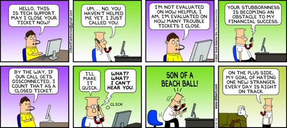Customer Service - Dilbert