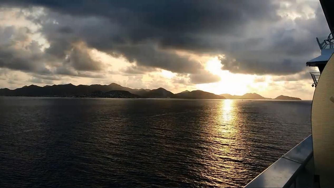 arriving St. Maarten