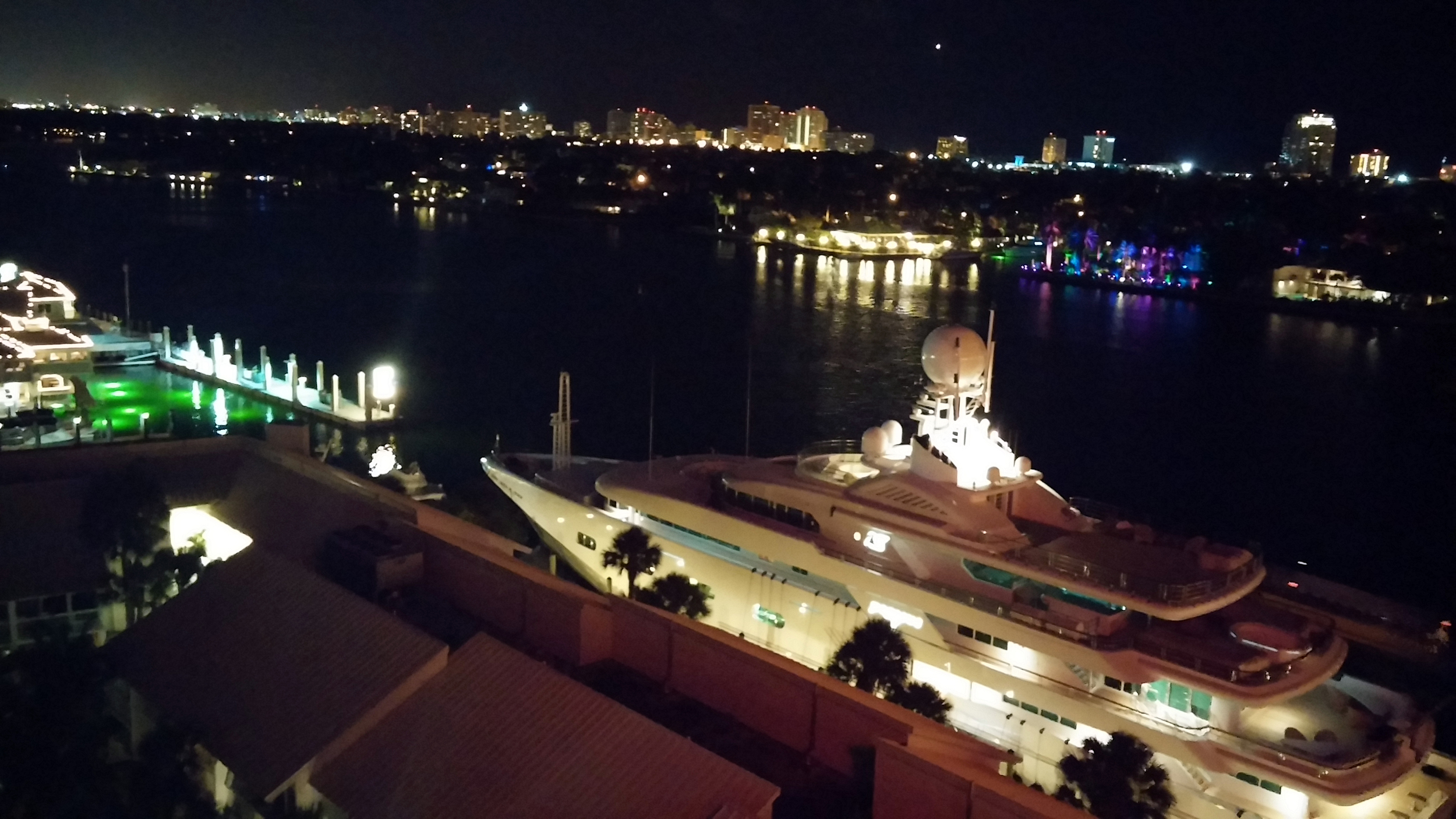 Hilton Fort Lauderdale Marina, view from our room