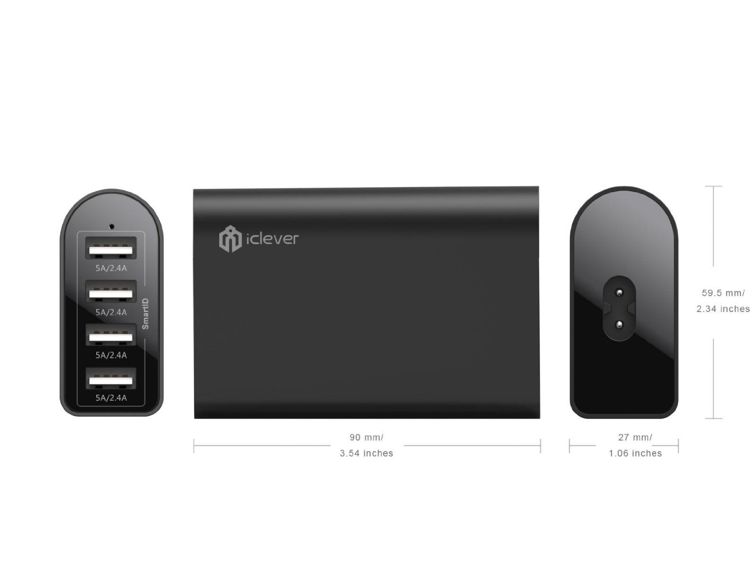 iClever 40W 4-Port USB Travel Charger with SmartID 4.jpg