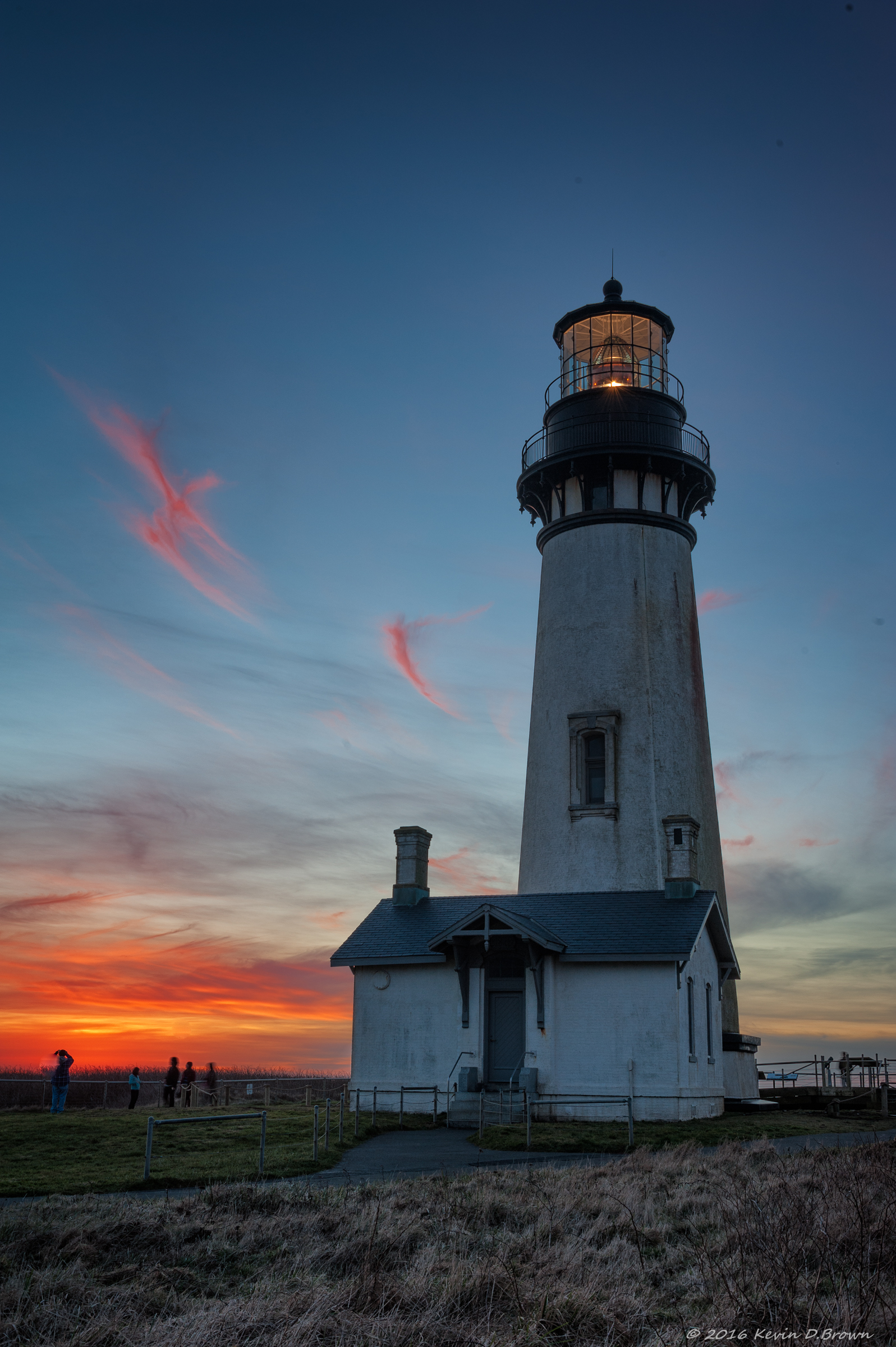 Yaquina Head Lighthouse at Sunset
