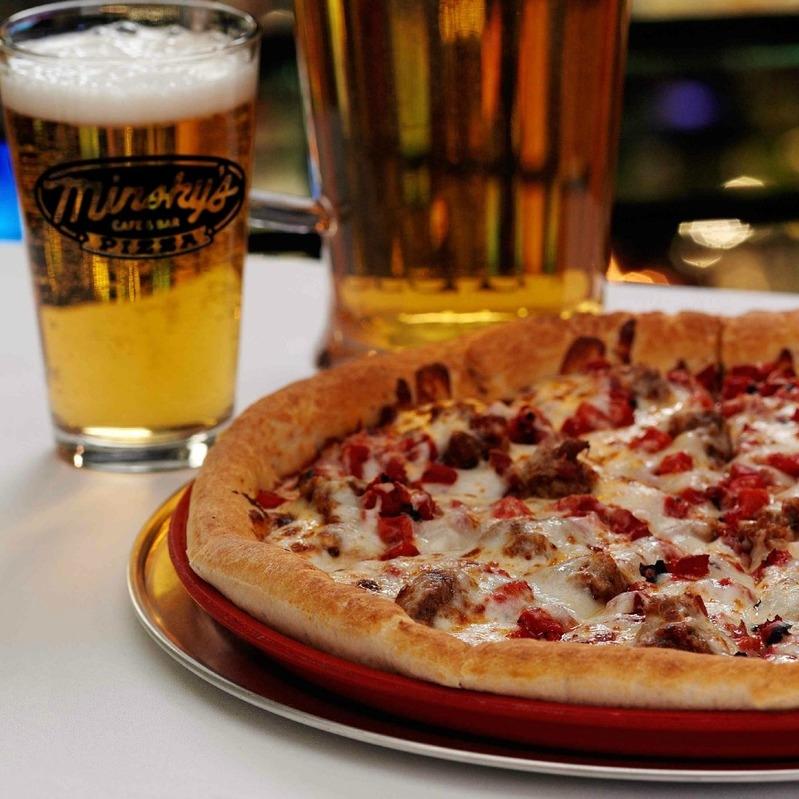 Minsky's Pizza   934 Massachusetts, Lawrence Kansas // 5105 Main St., KCMO