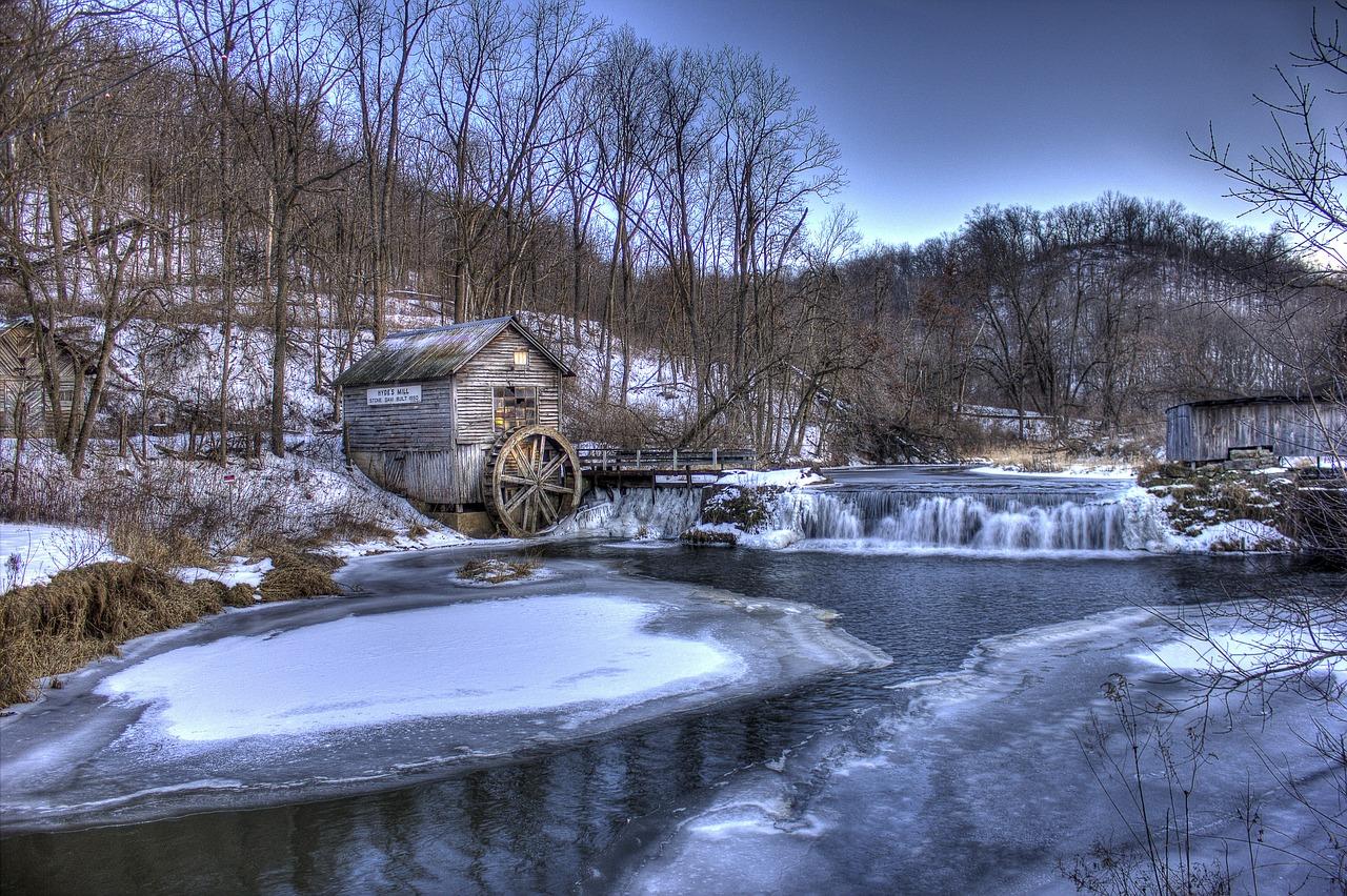 Winter Mill, Hyde, Wisconsin