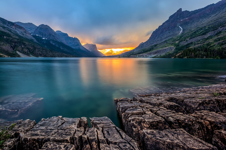 Glacier National Park, St Mary Lake, Montana