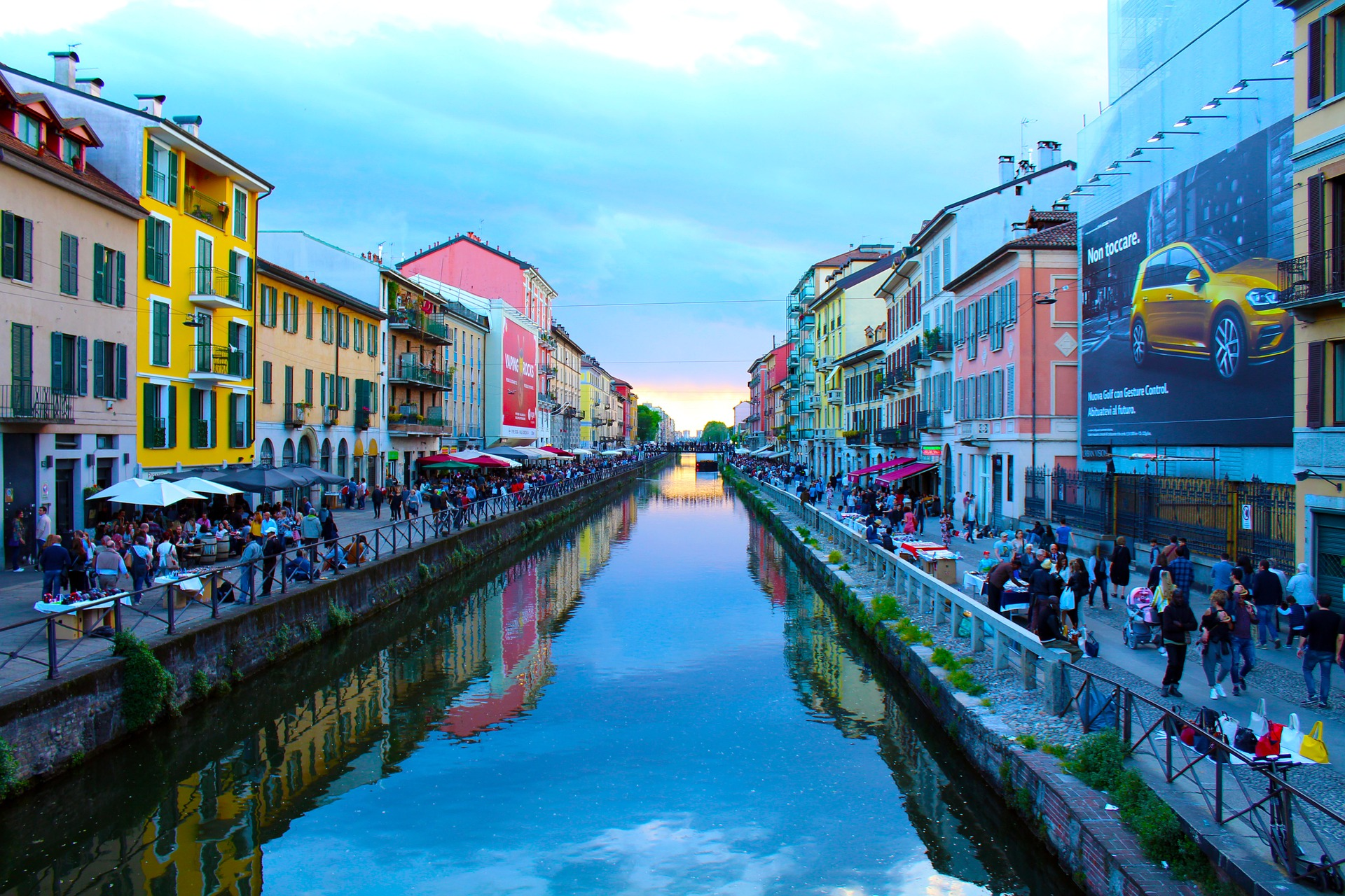 Navigli district, Milan, Italy