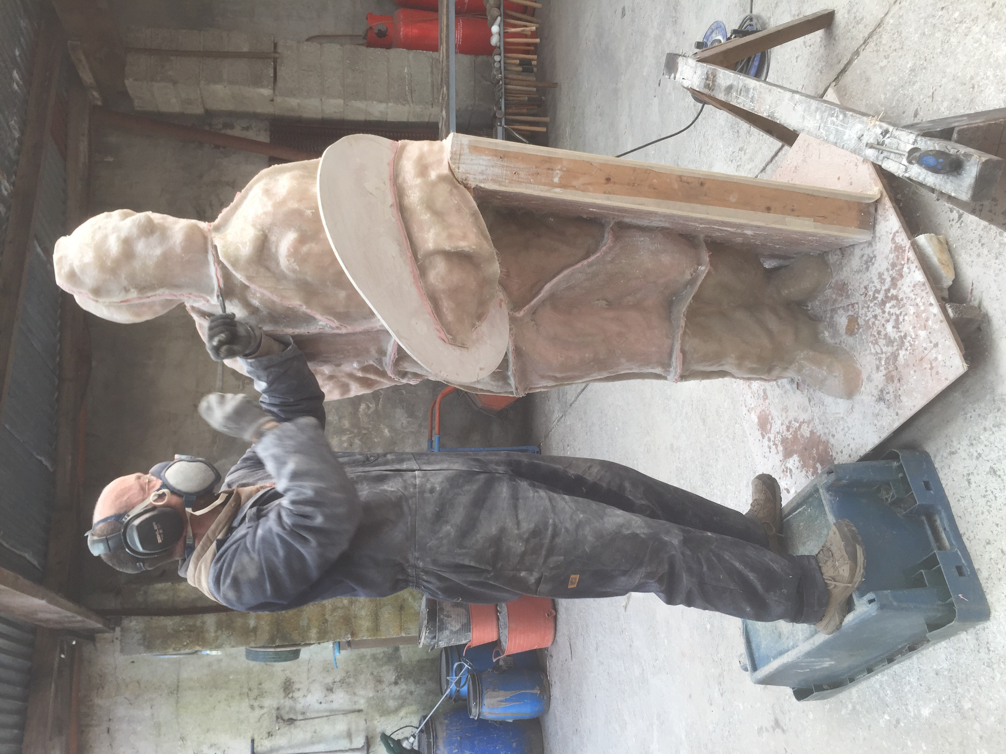De-moulding is one of the most unpleasant jobs in the process, as well as being unnerving as most of the plaster original is lost in the process!