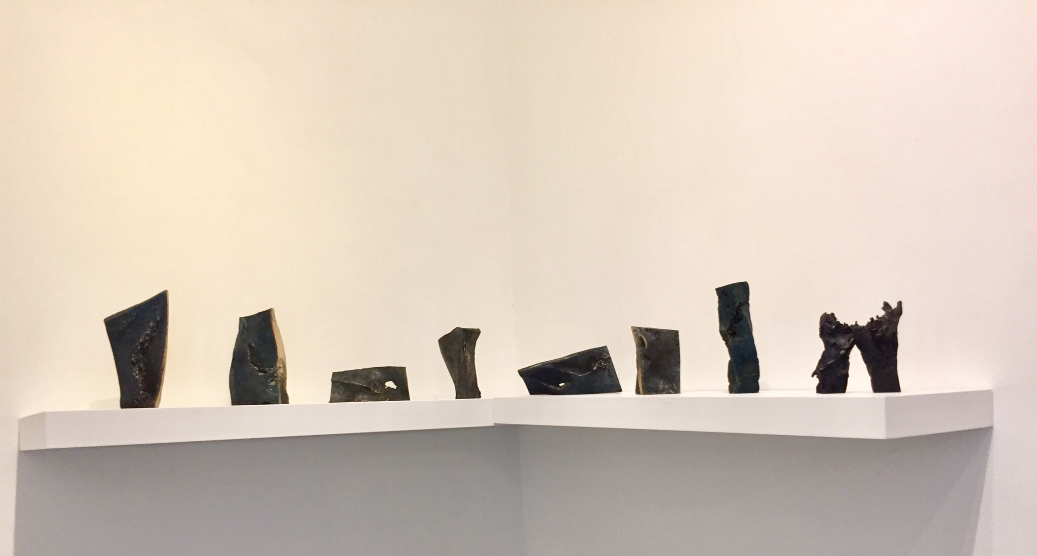 A series of eight small maritime compositions developed during a residency at the Ballinglen Arts Foundation, Co. Mayo and cast at the Umha Aois symposium at Liss Ard, 2016