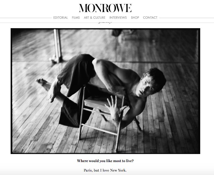 MONROWE MAGAZINE / Harrison Ball