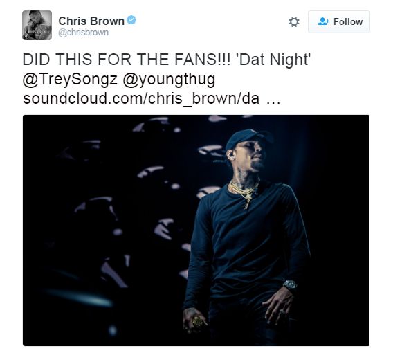 Source: ChrisBrownTwitter
